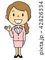 案内 立ち姿 女性のイラスト 42826334