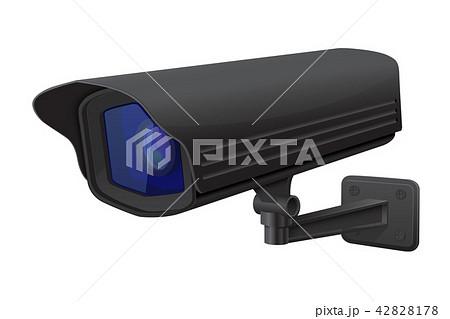 Security camera. Black CCTV surveillance system 42828178