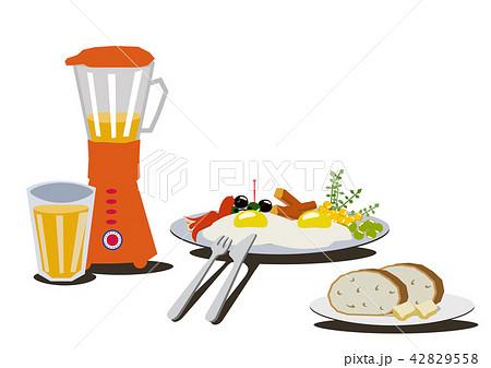 目玉焼きのイラスト朝食のクリップアート卵料理のイラスト素材