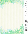葉 フレーム 新緑のイラスト 42829839