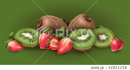 Strawberry and kiwi 42831258