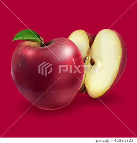Red apples on a background 42831322