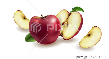 Red apples on a background 42831326