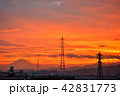 富士山 鉄塔 風景の写真 42831773