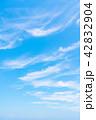 空 快晴 晴れの写真 42832904