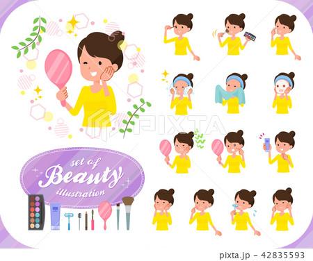 flat type Bun hair mom_beauty 42835593