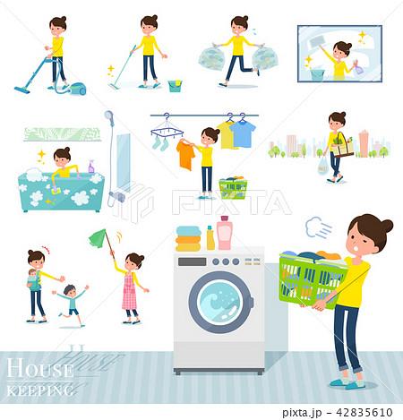 flat type Bun hair mom_housekeeping 42835610