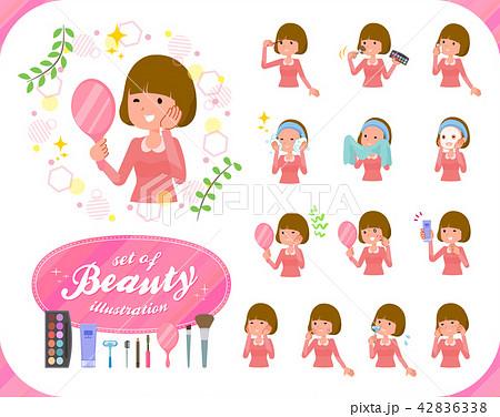 flat type Straight bangs hair women_beauty 42836338