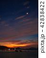 瀬戸内の明けの明星と朝焼け 42838422