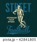 サッカー 選手 サッカー選手のイラスト 42841805