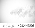 Medical background from hexagons. Geometric elements of design for modern communications, medicine 42844356