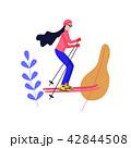 スキー スポーツ 運動のイラスト 42844508