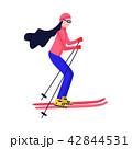 スキー スポーツ 運動のイラスト 42844531