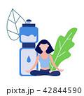 Vector woman in lotus posture yoga meditation 42844590