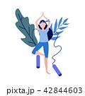 Vector woman doing yoga 42844603