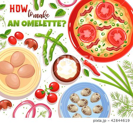 Omelette Ingredients Illustration 42844619