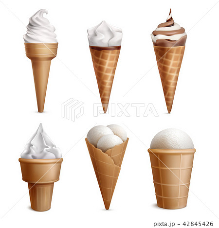 Realistic Ice Cream Collection 42845426
