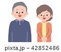 シニア 高齢者 夫婦のイラスト 42852486
