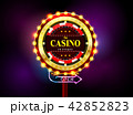 カジノ カジノの 標識のイラスト 42852823