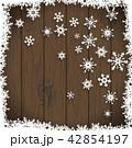 ゆき 雪 スノーフレークのイラスト 42854197