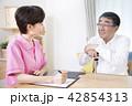 介護保険認定調査をするケアマネージャー 介護支援専門員 42854313