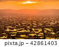 夕暮れ 夕景 散居村の写真 42861403