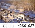 白馬村 早朝 冬の写真 42861687