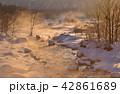 白馬村 早朝 冬の写真 42861689