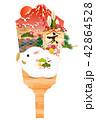亥 亥年 羽子板のイラスト 42864528
