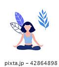Vector woman in lotus posture yoga meditation 42864898