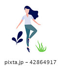 Vector woman doing stretch exercise 42864917