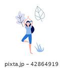Vector woman doing yoga 42864919