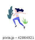 ベクトル 女性 ランニングのイラスト 42864921