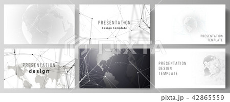 vector layout of the presentation slides design business templates