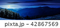 panorama of a mountainous landscape at night 42867569