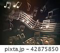 ミュージック 譜面 音楽のイラスト 42875850