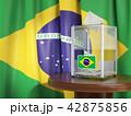 ブラジル 投票用紙 投票のイラスト 42875856