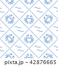 カニ パターン 柄のイラスト 42876665