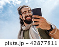 襟巻き スマホ スマートフォンの写真 42877811
