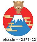 富士山と猪 42878422