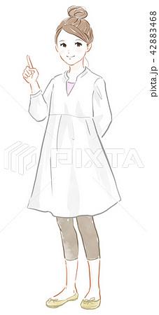 人差し指を立てるポーズの女の子 42883468