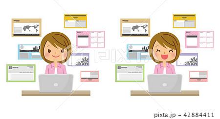 職業 Webデザイナー 女性のイラスト素材 42884411 Pixta