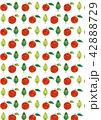 柄 パターン 林檎のイラスト 42888729