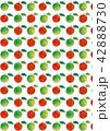 柄 パターン 林檎のイラスト 42888730