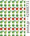 柄 パターン 林檎のイラスト 42888731