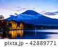 富士山 山中湖 夕景の写真 42889771