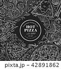 ピザ ピッツァ 料理のイラスト 42891862