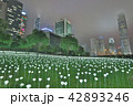 Light Rose Garden In Hong Kong City at night 42893246