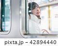 電車 女性 撮影協力「京王電鉄株式会社」 42894440