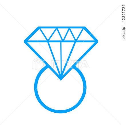 diamond ring vector illustration 42895726